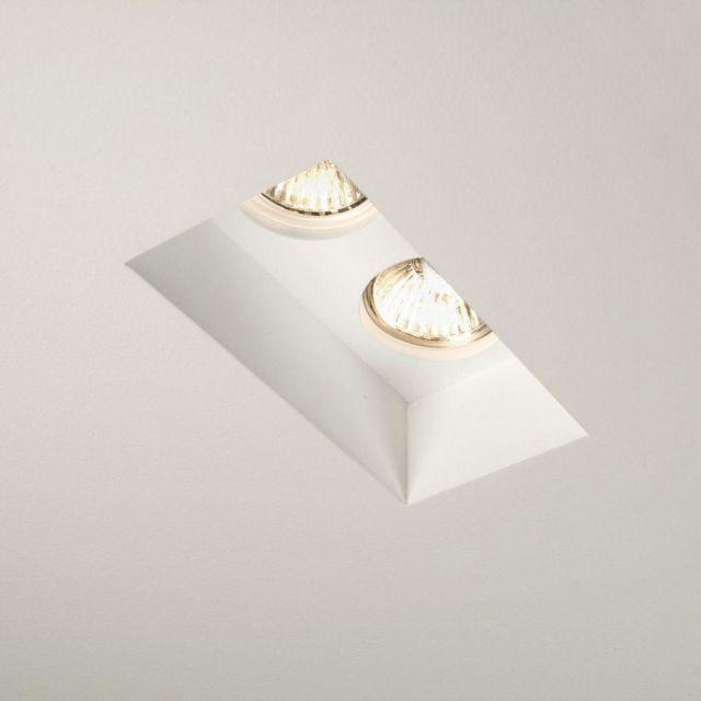 Astro 1253006 Blanco Twin Adjustable Downlight in White Plaster Finish