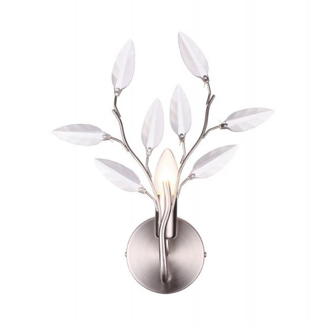 Meadow 1 Light Wall Light Fitting In Satin Silver