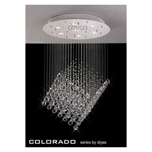 IL30783 Colorado 7 Light Crystal Ceiling Pendant