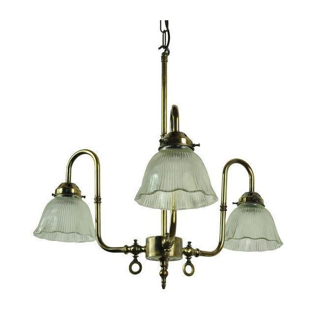 Large Swan 703P3 Traditional Solid Brass 3 Light Ceiling Pendant