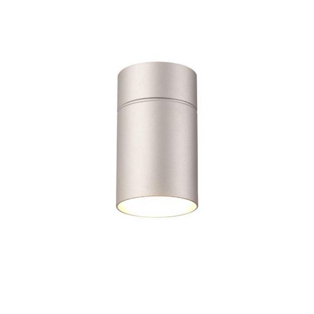 Mantra M5629 Aruba 1 Light Small Ceiling Light In Silver - Dia: 90mm