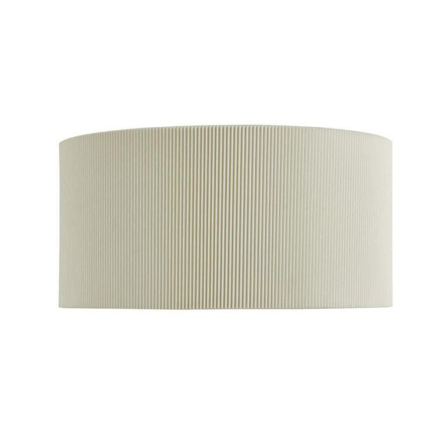 Searchlight 3462-2CR Drum Pleat 2 Light Wall Light In Chrome With Cream Shade