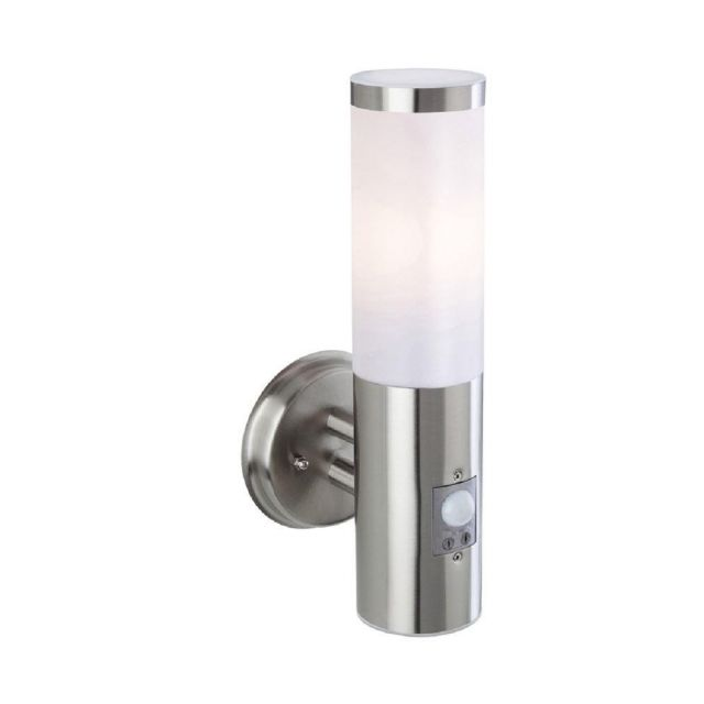 Firstlight 3431ST Plaza Wall Light With PIR In Stainless Steel