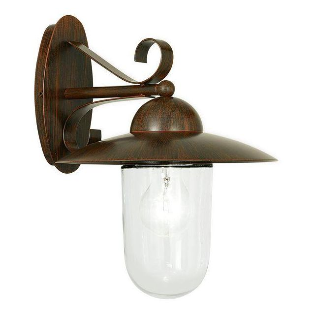 83589 Milton Classic Steel Wall Lamp in Antique Brown