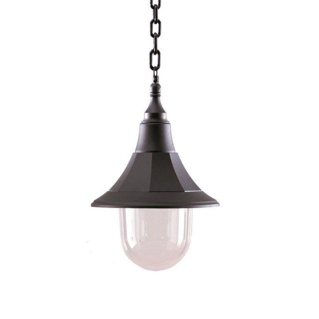 Elstead SHANNON CHAIN Shannon 1 Light Outdoor Ceiling Chain Lantern Light In Black