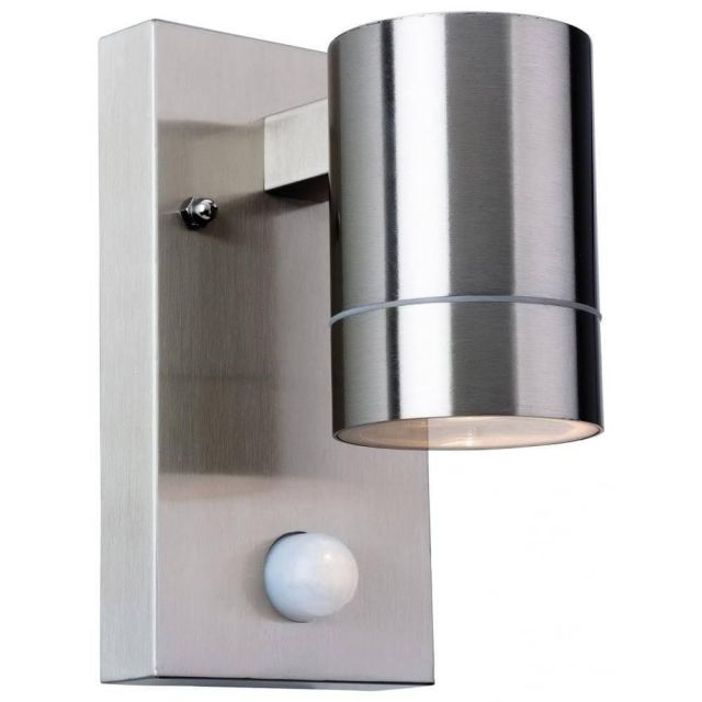 Firstlight 3428ST Colt One Light Wall Light With PIR In Stainless Steel