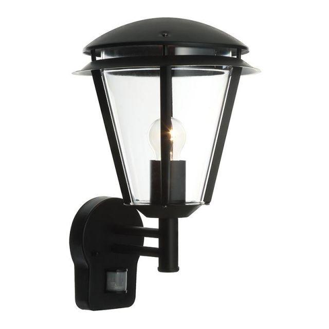 Saxby 49946 Inova PIR Outdoor Wall Light in Matt Black Paint IP44