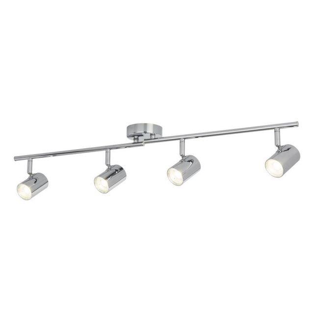 Searchlight 3174CC Rollo Four Light Ceiling Bar Spotlight In Chrome