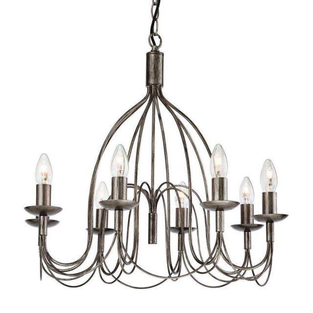 Firstlight 2318AS Regency 8 Light Ceiling Pendant in Antique Silver Finish