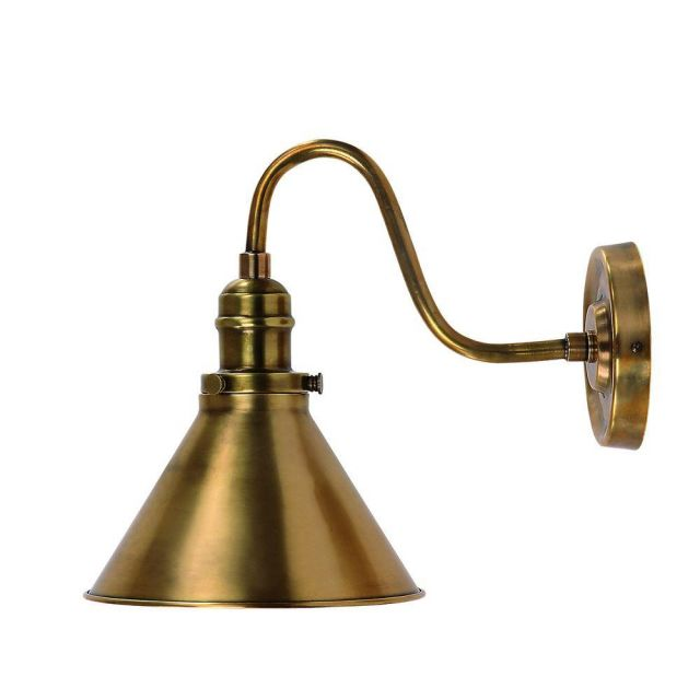 PV1 AB Aged Brass Provence French Style Wall Light
