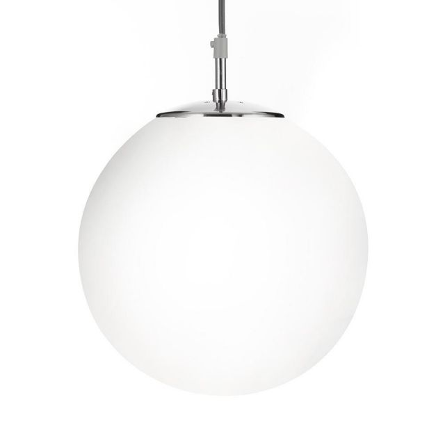 Searchlight 6077 Atom 1 Light Ceiling Pendant Light In Satin Silver