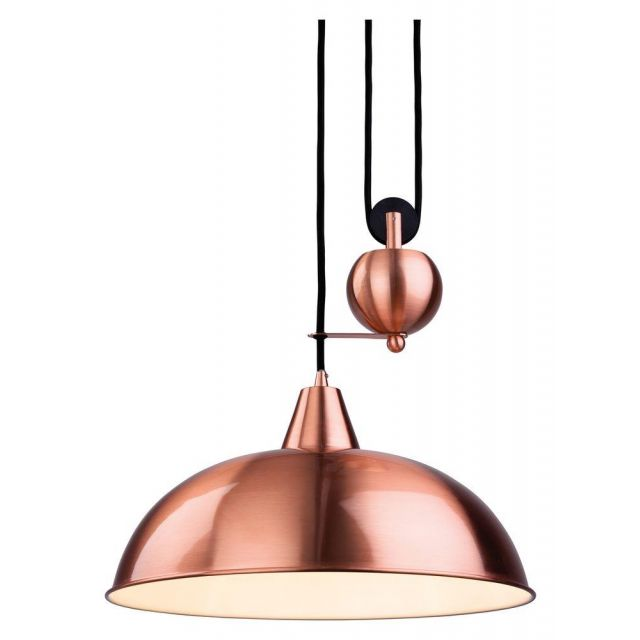 Firstlight 2309CP Century Rise and Fall Ceiling Light in Brushed Copper