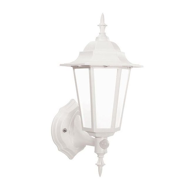 Saxby 54556 Evesham Outdoor PIR Wall Light in White