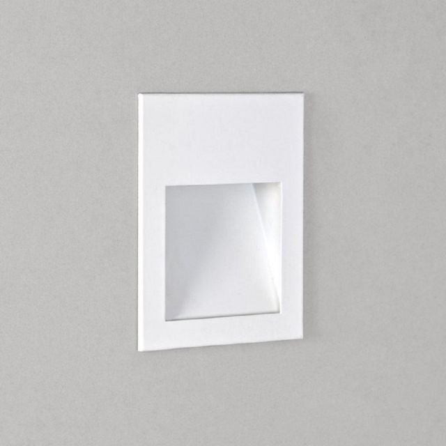 Astro 1212033 Borgo One Light LED Recessed Wall Light In White, 2700K - H: 70mm
