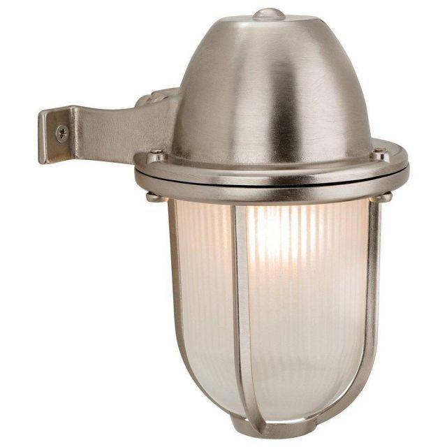 Firstlight 3435NC Nautical Nickel Finish Solid Brass Outdoor Wall Light