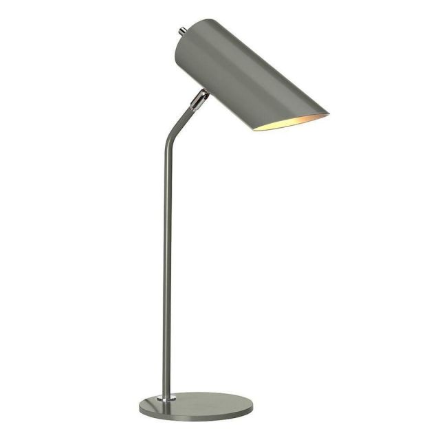 Elstead QUINTO/TLGPN Quinto 1 Light Table Lamp In Grey And Nickel