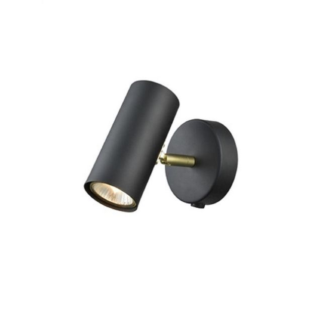 F2402-1 1 Light Wall Light In Black And Gold