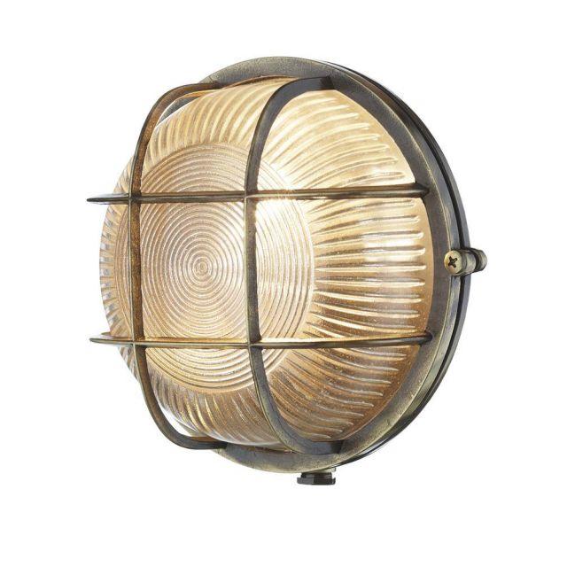 David Hunt Lighting ADM5075 Admiral Antique Brass Outdoor Wall Light IP64
