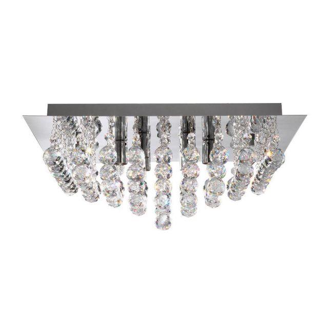 Searchlight 6404-4CC Hanna Square Flush Chrome 4 Light Fitting