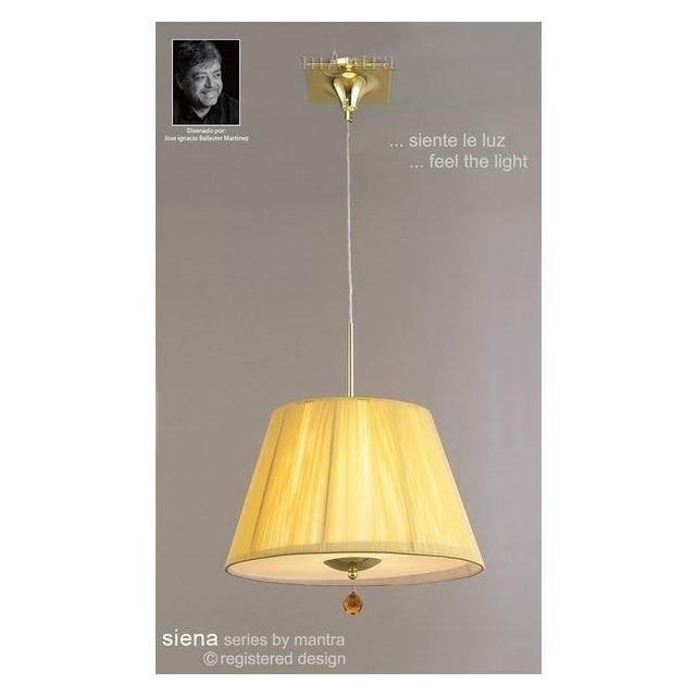 M0386PB Siena Polished Brass 3 Light String Ceiling Pendant