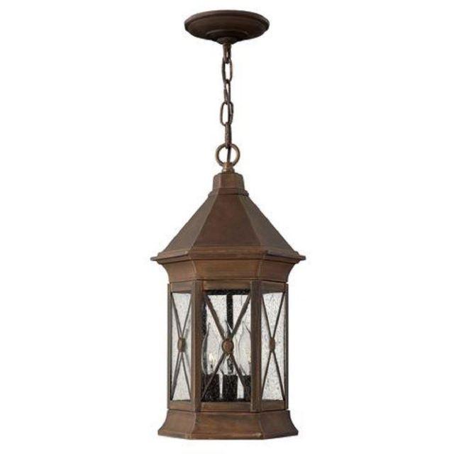 HK/BRIGHTON8/M Brighton 3 Light Chain Lantern Ceiling Light In Sienna