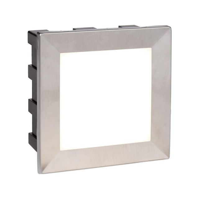 Searchlight 0763 Ankle Square Recessed Outdoor Wall Light In Stainless Steel - Length: 135mm
