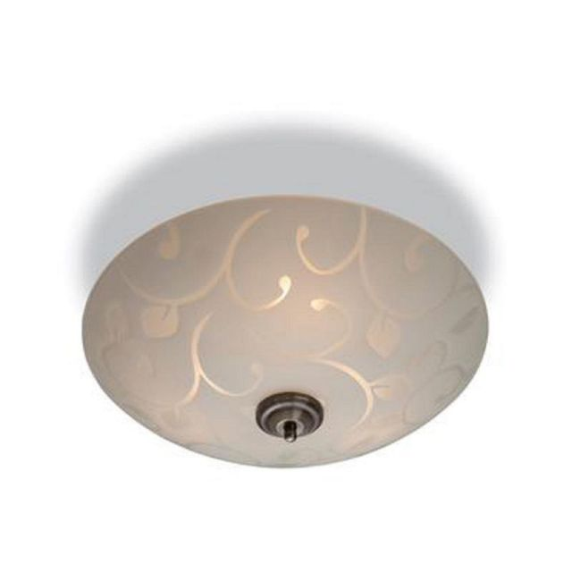 Firstlight 8317 Sadie 3 Light Flush Ceiling Light with Patterned Glass