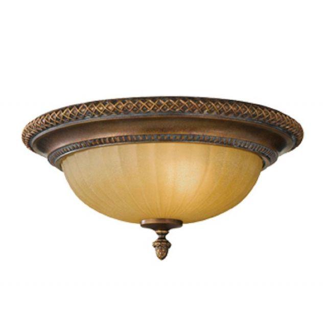 FE/KELHAMHALL/F Kelham 2 Light Bronze Flush Ceiling Light