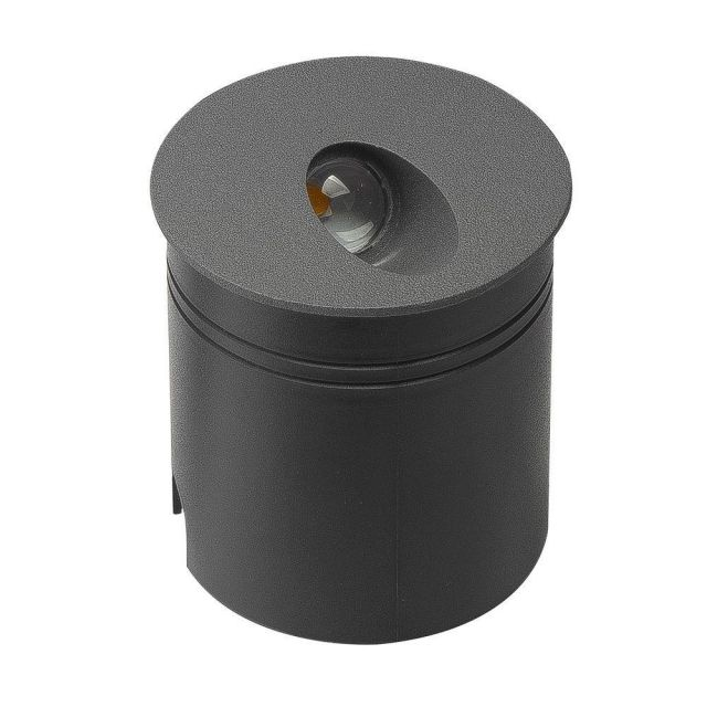 Mantra M7021 Aspen 1 Light Outdoor 3 Watt LED Round Angle Wall Lamp In Anthracite