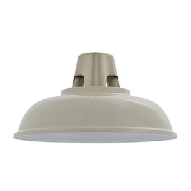 Endon 80660 Henley 1 Light Ceiling Pendant Shade In Gloss Taupe And Satin Nickel Plate