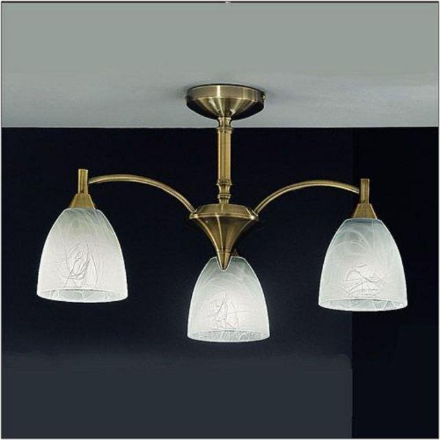 F2105/3 3 Light Bronze Semi-Flush Ceiling Light
