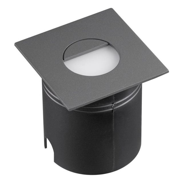 Mantra M7030 Aspen 1 Light Outdoor 3 Watt LED Square Eyelid Wall Lamp In Anthracite