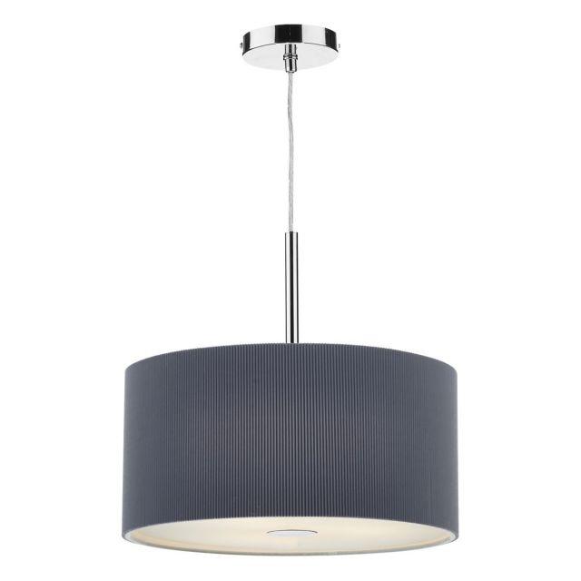Dar ZAR1039 Zaragoza Grey 40cm 3 Light Modern Ceiling Pendant