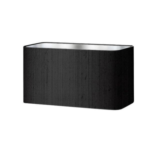 ZOF0722 Zoffany Black Silk 25cm Rounded Rectangle Shade